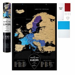 1DEA.me Скретч карта Європи