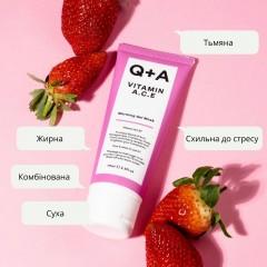 Q+A Vitamin A.C.E. warming gel mask 75ml Мультивітамінна маска для обличчя